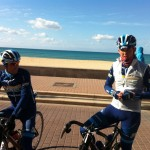 syklister på stranda