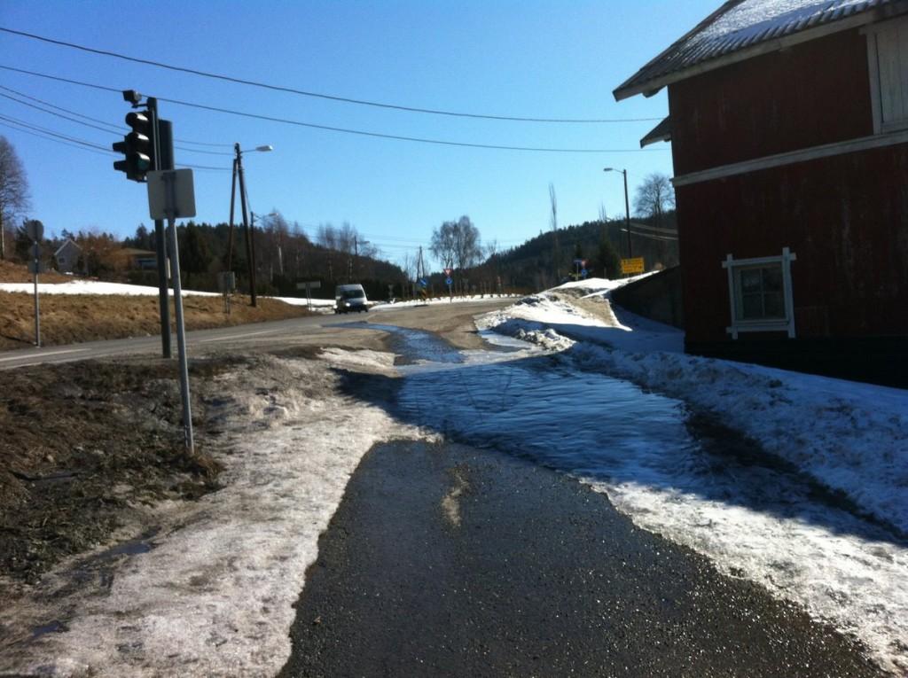 Is på sykkelveien