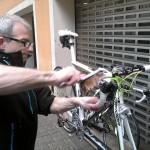 Matt vasker sykler